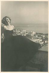 Margo - 1950 (sctatepdx) Tags: snapshot 1950s 1959 vintagedress oldsnapshot vintagegown vintagesnapshot 1950sgown