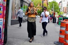 mary jane's (omoo) Tags: newyorkcity girl shoes streetscene maryjanes prettygirl greenwichvillage strolling mansmokingcigarette dscn4016 womanwithbackpack grayhairedwoman sixthavenueatgreenwichavenue strollingonsixthavenue taattooedman sixthavenueandgreenwichavenue