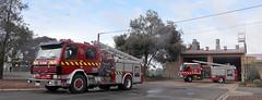 Port Pirie 501 and 502 (pobox448) Tags: fire south australian company service sa metropolitan scania mfs isuzu 0196 samfs 0160 liquip
