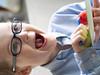 Watermellon Time! (Monkey Mash Button) Tags: birthday digital pen lens ed happy four glasses olympus m micro f18 zuiko 45mm watermellon thirds m43 mft mirrorless epm2