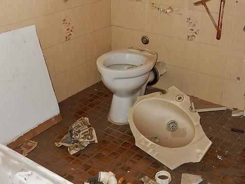Smashed Up Bathroom