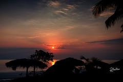 Shhhhhhhh (Riccardo Maria Mantero) Tags: travel sea sun water silhouette clouds sunrise palms landscape cuba calm silence rays tranquillity mantero cayoguillermo riccardomantero riccardomariamantero potd:country=it
