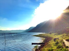 Ray of sunlight (Boysimangunsong) Tags: travel bali sunlight lake nature indonesia rayofsun tamblingan iphoneography