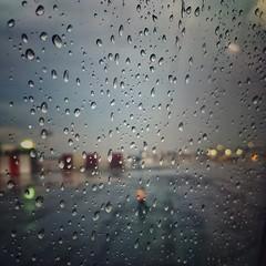 Solitude (Mister Blur) Tags: plane thelighttraveler wetravel window bokeh raindrops solitude airport terminal2 aicm méxico iphone se iphoneography