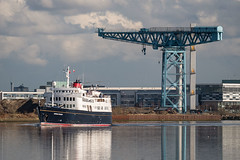 Hebridean Princess passing Titan Crane