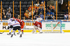 """Missouri Mavericks vs. Allen Americans, March 3, 2017, Silverstein Eye Centers Arena, Independence, Missouri.  Photo: John Howe / Howe Creative Photography • <a style=""""font-size:0.8em;"""" href=""""http://www.flickr.com/photos/134016632@N02/33232471476/"""" target=""""_blank"""">View on Flickr</a>"""