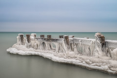Frosty Fifty Point (angie_1964) Tags: 50 fifty point pier grimsy ontario canada lakeontario nikond800e longexposure wood clouds sky water nature seascape landscape ice explore