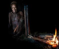 WEST PAPUA, Dani man (silvia.alessi) Tags: tribal dani papua indonesia asia people travel lonelyplanet ngc adventure westpapua fire penisgourd oldman portait