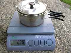 Empty Stainless Steel Pot and Lid (joeball) Tags: camping test water gear stove alcohol brass weights boil trangia clikstand