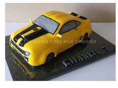 bumblebee (The Whole Cake and Caboodle ( lisa )) Tags: cakes car cake robot transformer bumblebee caboodle