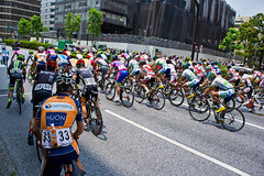 Tour of Japan 2013 (A7design1) Tags: 6 bicycle race start cycling tokyo italia stage bridgestone doctor merida subaru anchor pro pacecar derosa hibiya  roadrace mavic uci  shimano hibiyapark  tourofjapan racedirector   lampre  japancup 2013  nippo               pearlisumi