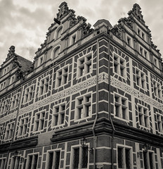 Mansion World (Anthony Pallotto Photography) Tags: old city windows portrait urban bw white black building brick classic stone clouds vintage germany outdoors bavaria lights photo nikon patterns picture angles highcontrast structure lamps dslr stratus angled ansbach deadsy d7000 mansionworld