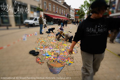 Urban van GoGo (UrbanCanvas) Tags: street uk urban holland art public dutch festival kids painting children chalk 3d floor drawing pavement arts picture canvas event international workshop sunflowers artists pastels van gogh chalking kerkrade anamorphic 2013 urbancanvas screever