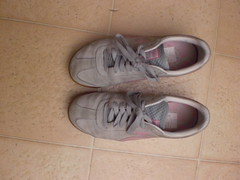 Smelly Pumas (CallalilyGazer) Tags: pumas dirtyshoes tennisshoes oldshoes stinkysneakers