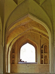 Inside Golconda Fort, Hyderabad (jonhuskisson) Tags: india hyderabad asia fort golconda golkonda arches reading worship placeofworship travel backpacking world culture