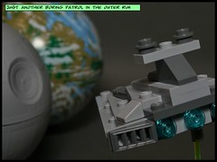 S03 010 ISD over Endor (_GoGen_) Tags: star lego destroyer imperial deathstar endor 2013 30056