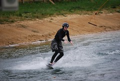 Cable Ski (johnrobertbarber) Tags: park water wake boarding cotswold