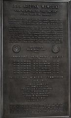USS Arizona Plaque 1 (deltaMike) Tags: usa hawaii memorial worldwarii pearlharbor usnavy ussarizona