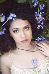 Flower Girl (Elvira K Photography) Tags: flowers portrait woman girl beautiful fashion spring model curly ethereal youthful