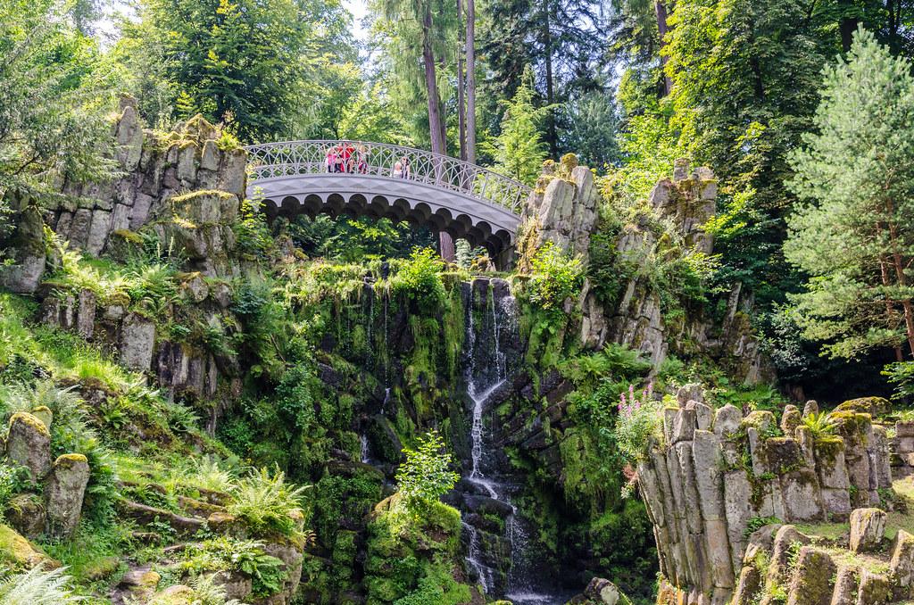 Hervorragend Wasserspiele Im Schlosspark Wilhelmshöhe / Trick Fountains In The Palace  Gardens At Wilhelmshoehe, Kassel,