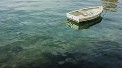 A boat (AdrienL59) Tags: seaweed water boat minolta sony croatia transparent pula 2885 a290 fazana sonya290