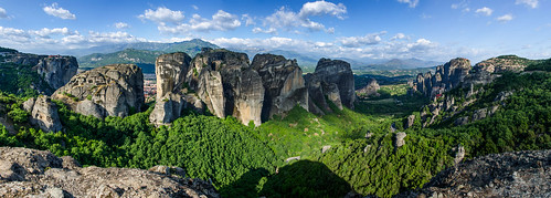 Panorama of Metéora Greece