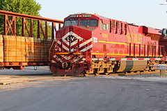 NS 8104 Works Dpu. (sgillam30) Tags: santa railroad heritage ns trains fe ge bnsf units gevo 8104 bnsfbrookfieldsub