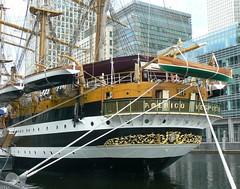 Amerigo Vespucci (1) @ West India Dock 08-08-13 (AJBC_1) Tags: uk england london boat ship unitedkingdom vessel tallship canarywharf sailingship italiannavy westindiadock ajc ajc