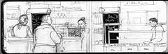 cafe la argentina de juncal (edgardo rosales) Tags: argentina pencil cafe buenosaires drawing lapiz invierno dibujo hombre croquis libretadeapuntes