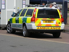 2731 - Volvo V70 Estate - A11 BDV - Private Ambulance - DSCF8446 (Call the Cops 999) Tags: park uk england rescue private volvo day estate britain united country great north lakes july saturday 7 kingdom ambulance lincolnshire vehicles gb vehicle service emergency 13 112 services crowle 999 a11 v70 bdv 2013