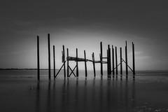 Fouras ancien carrelet (David-Charles Arriv1) Tags: mer nature canon nb paysage 2470l fouras nd400 minimalisme poselongue 5dmarkii