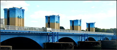 Bridge at Arzal (catb -) Tags: bridge france building river lock bretagne barrage fa arzal vilaine