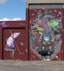 wood-pixel-monkey-land (Pixeljuice23) Tags: streetart graffiti wiesbaden friendlyfire innerbeast urbandisturbance pixeljuice pixeljuice23