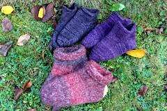 2013.09.23. hahtuva ym. tossuja 3 p 001m (villanne123) Tags: socks felted knitting forsale slippers machineknitting sukat 2013 tossut hahtuva tossukat hahtuvatossut