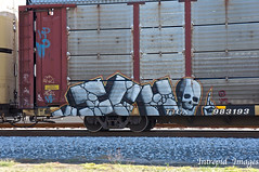ICH (INTREPID IMAGES) Tags: street railroad art train bench circle t graffiti fan fry paint steel painted sony graf tracks rail railway tags images 63 yme railcar intrepid writer boxcar graff ich freight rolling ichabod itd sfl gr8 paintedtrains olor benching railer ttgx intrepidimages 983193