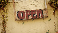 Open for business (`. Susan .*).*) Tags: sign nikon open handpainted cracked d300 113picturesin2013