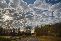 Clouds On Road (jah32) Tags: road autumn light sky sun ontario canada fall nature clouds nikon lensflare flare stthomas countryroad d7100