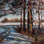 "<b>Pines in Winter</b><br/> Coleman (Pastel)<a href=""http://farm4.static.flickr.com/3807/10558330255_20ae022dd2_o.jpg"" title=""High res"">∝</a>"