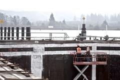 Grays Harbor in the distance (WSDOT) Tags: th wsdot sr520 pontoons wastate bridge construction concrete workers floatingbridge kiewit sr520pontoons cycle4 aberdeen