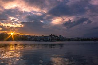 Sunset at Chalkida city