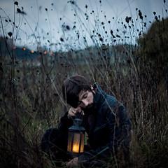 A Night In The Olive Grove (thewickedend - Nicolas Bruno) Tags: portrait italy selfportrait field self photography 50mm bokeh surreal lantern 365 conceptual perugia umbria nicolasbruno