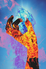 (Jonathan Minto) Tags: sky sun abstract color art fire weird hand bright doubleexposure vibrant smoke vivid flame trippy jonathanminto