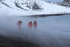 Warming Up in the Mist (Carolyn Cheng) Tags: antarctica deceptionisland