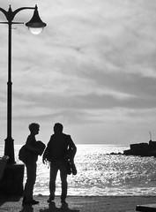 - (txmx 2) Tags: people bw beach silhouette spain espana lapalma canaryislands spanien tazacorte ignorethetagsonwhitetheyarefromastupidflickrrobot