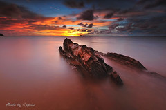 Sea Monster (zakies) Tags: longexposure sunset rock malaysia seamonster labuan 500px leefilter sabahsunset zakiesphotography zakiesimage