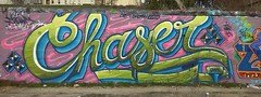 chaser tipografico (verchaser.com) Tags: madrid graffiti chase rosas verdes tipografia chaser metropolitano azules 2014
