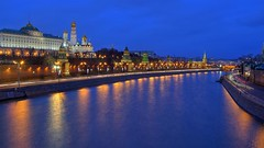 moscow river (Sergey S Ponomarev) Tags: city winter light sunset sky church water night clouds canon reflections landscape russia outdoor moscow ngc perspective churches le rivers inverno hdr mosca kremlin russie 2014  russland   600d 24105l cremlino sergeyponomarev vision:outdoor=0966 vision:dark=0624 vision:clouds=0836 vision:sky=088