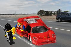 Emmet explains (replaced) (Peter_Mackey) Tags: red photoshop lego sb600 ferrari lightbox tabletop cls f50 constable emmet sb800 focusstack 105mmf28dmicro sb900