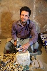 Isfahan - Restoration Worker (Rolandito.) Tags: portrait man iran mosque restoration worker esfahan isfahan jame restauration moschee abassi