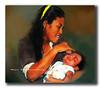 Kasih Ibu Kepada Beta Tak Terhingga Sepanjang Masa..... (I love photography so I can photograph what I like) Tags: baby painting mother ibudananak kasihibu